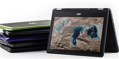 Acer y Asus lanzan nuevas Chromebooks con stylus para el aula