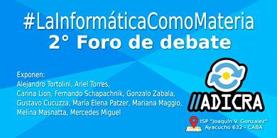 ADICRA organiza un nuevo foro para debatir la informática en la educación