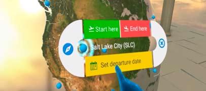 La primera experiencia para reservar viajes usando Realidad Virtual