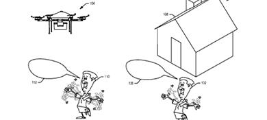 Amazon patentó un dron que entiende cuando le gritás
