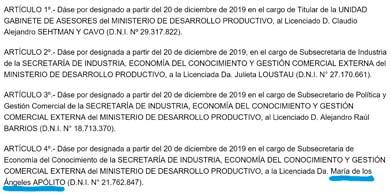 El gobierno nombró nueva Subsecretaria de Economía del Conocimiento