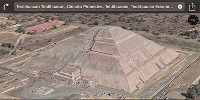 Culiacán y Teotihuacán cobran vida en los mapas de Apple