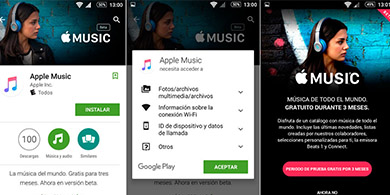 Apple Music llega a Android y golpea a Spotify