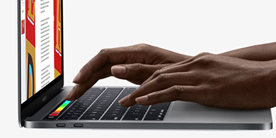 Apple present� sus nuevas MacBook Pro con pantalla t�ctil en el teclado