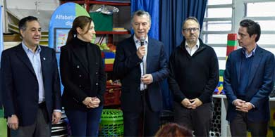 Macri, Vidal y Finocchiaro lanzaron Aprender Conectados para el Nivel Inicial
