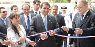Franco inauguró salas de capacitación del CONACYT