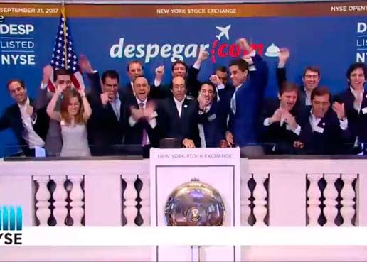 Eufórica, Despegar.com tocó la campana del NYSE