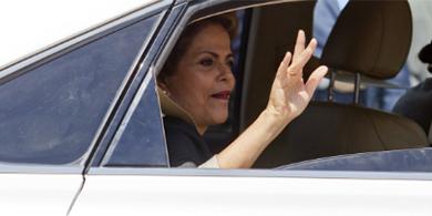 Dilma Rousseff paseó en el auto sin chofer de Google
