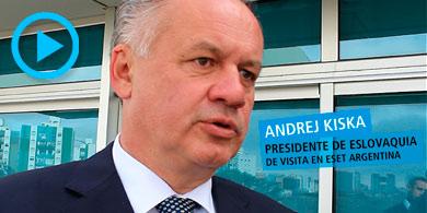 Eset Argentina recibi� al presidente de Eslovaquia