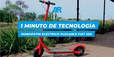 1 Minuto de Tecnología: Monopatín Eléctrico Fiat 500 F10