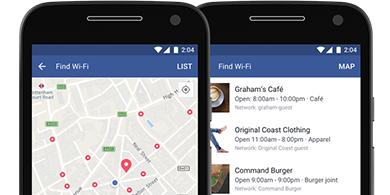 Facebook ahora te dice dónde hay WiFi