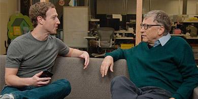 En un sketch aburrido, Zukerberg le pidió consejos a Gates para su discurso en Harvard
