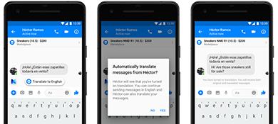 Facebook Messenger ya puede traducir tus chats en español e inglés
