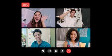 Una nueva forma de transmitir en vivo en Facebook desde Salas de Messenger