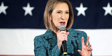 Carly Fiorina, ex CEO de HP, se baja de las presidenciales