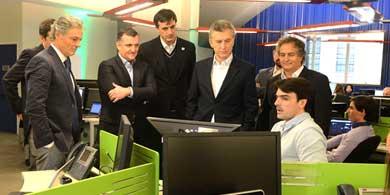 Globant invertir� 1.200 millones de pesos, le dijo a Macri en sus oficinas