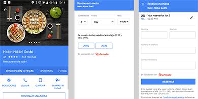 Google Maps ya permite reservar un restaurante en Argentina