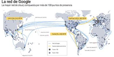 Google construirá un cable submarino entre Chile y California