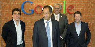 Scioli se reuni� con directivos de Google Argentina