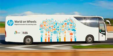 World on Wheels, la iniciativa de HP para impulsar la educación en India