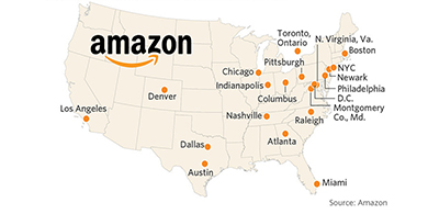 En dónde instalará Amazon su HQ2?