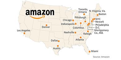 En dónde instalará Amazon su HQ2?