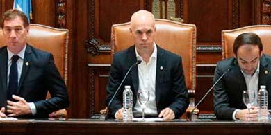 Como Macri, Larreta habló de tecnología en la Legislatura