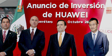 Huawei impulsa las TICs mexicanas con 1.500 millones de d�lares