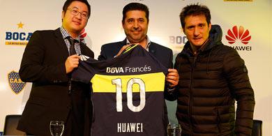 Huawei es el nuevo sponsor de Boca Juniors