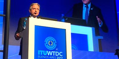 Ibarra inauguró el WTDC-17 y anunció un