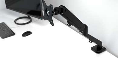 Klip Xtreme lanzó un nuevo soporte para monitores con mecanismo neumático