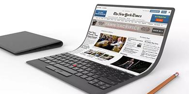 Lenovo sorprendió con la portátil flexible del futuro