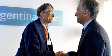 Macri y Larreta se reunieron con Bill Gates en Davos