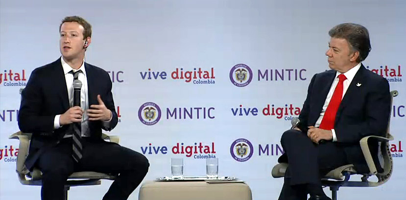 Mark Zuckerberg y Santos lanzaron Internet.org en Colombia