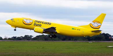 Mercado Libre lanzó su flota de aviones para democratizar el comercio electrónico