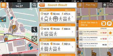 La app de transporte Moovit, presente en la Copa América