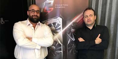 ASRock presentó al canal su línea Phantom Gaming junto a PC-Arts y AMD