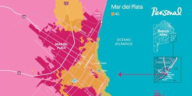 Personal anunció la disponibilidad de 4G en Mar del Plata y Pinamar