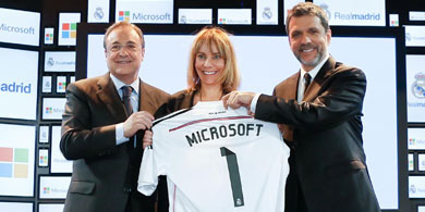 Microsoft y Real Madrid firman un acuerdo millonario