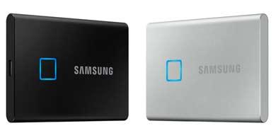 T7 Touch, la nueva unidad portátil SSD de Samsung con sensor de huellas digitales