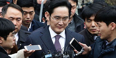 Arrestan al heredero de Samsung por corrupción