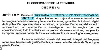 ¿En qué consiste el nuevo Programa Estratégico de Conectividad de Santa Fe?