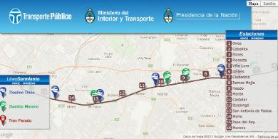 Desarrollan un nuevo software que permite seguir online el ferrocarril Sarmiento