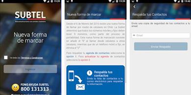 Subtel lanza app para actualizar la agenda con el nuevo marcado