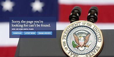 Trump eliminó la web en español de la Casa Blanca