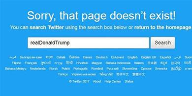 Un empleado de Twitter borró la cuenta de Trump antes de irse