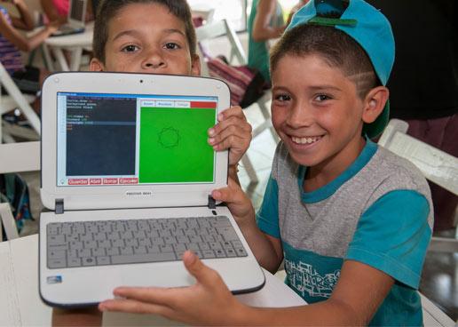 Programando en la escuela durante las vacaciones