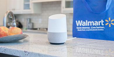 Wallmart y Google se unen para que compremos con la voz