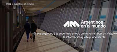 El Gobierno lanzó una web para los argentinos que viajan al exterior